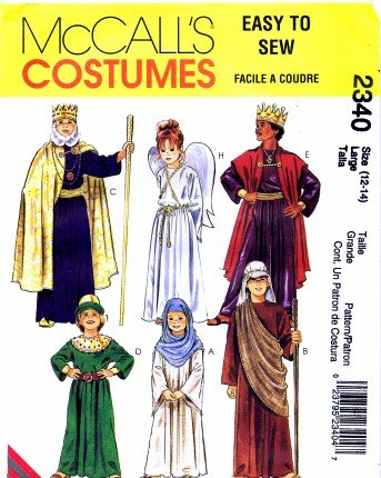 Amazon.com: McCall\'s 2340 Sewing Pattern Religious Nativity Costumes ...