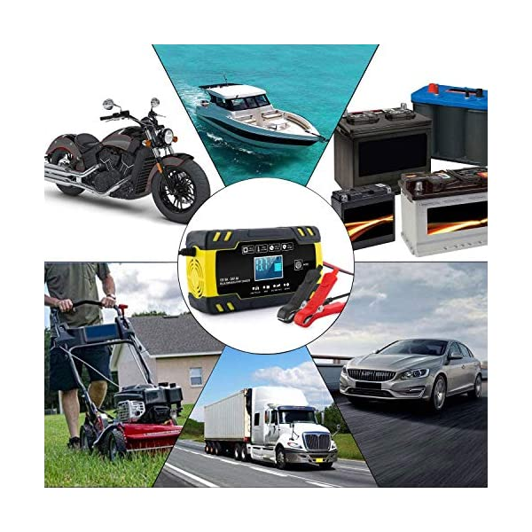 Yomao Ladegerät Autobatterie 8A 12V/24V KFZ Batterieladegerät Vollautomatisches Intelligentes Erhaltungsladegerät mit…