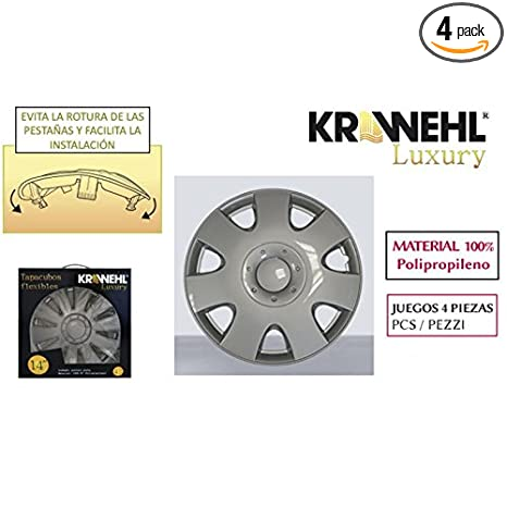 Amazon.com: Krawehl 1103.0000826 Vega Set of Hub Caps, 14 Inches: Automotive