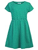 Arshiner Kids Girls Dress Small Polka Dots Summer Short Sleeve Casual Style Size 3-10