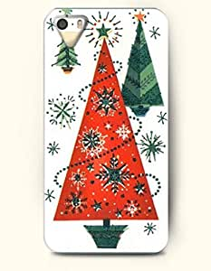 Merry Xmas Red And Green Christmas Tree - OOFIT iPhone 4 4s Case