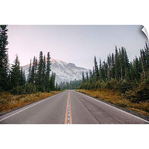 (CANVAS ON DEMAND Paradise Valley Road, Mount Rainier National Park, Washington Wall Peel Art Print, 18