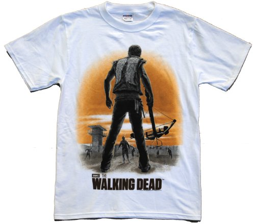 The Walking Dead Daryl's Dixon Back Walkers Adult White T-shirt 2XL