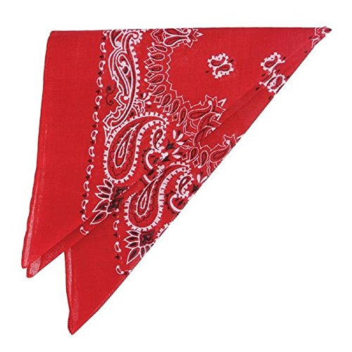 [Cowboy Western Bandana (Package of 12) (Red)] (Halloween Costumes With Red Bandana)