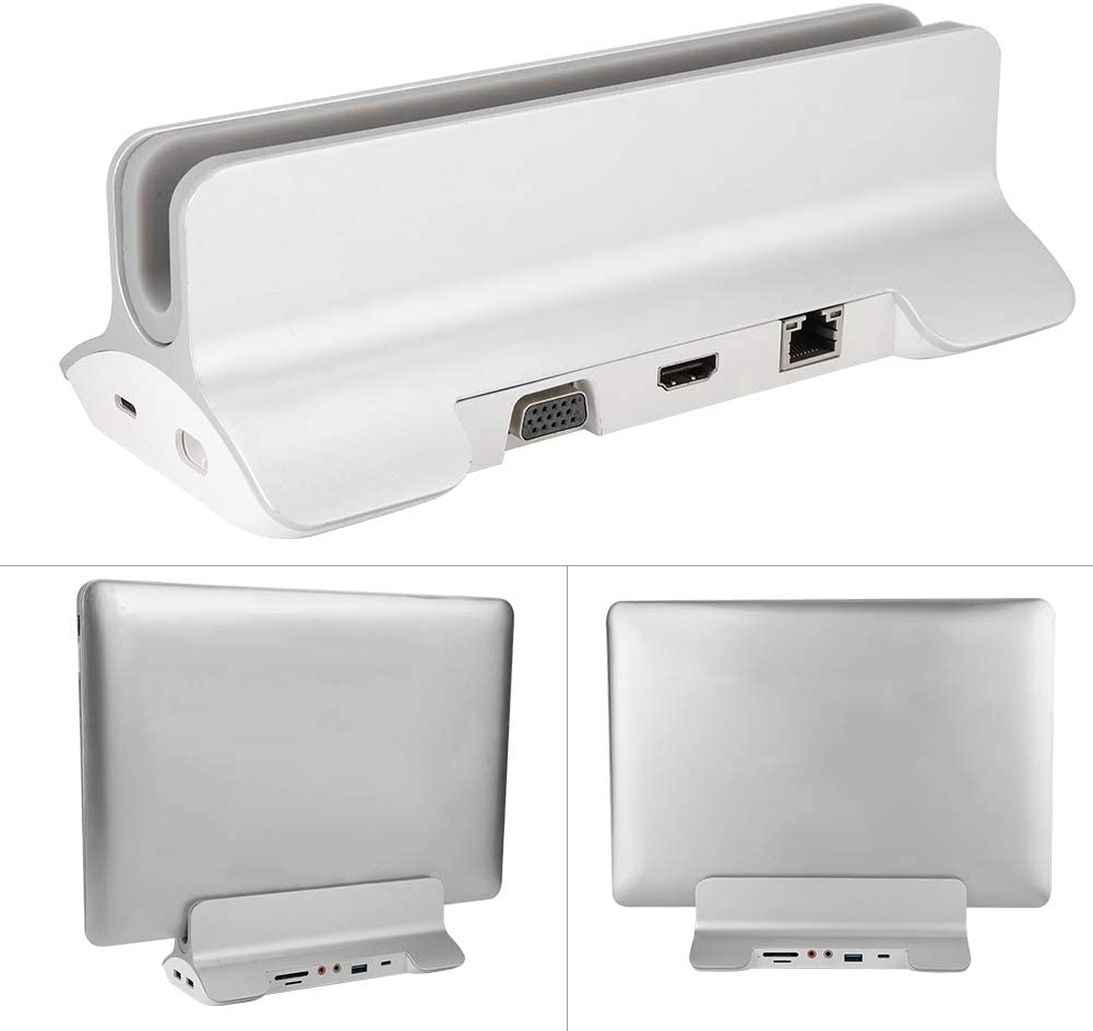Silver 13//15 in Aluminium Alloy Notebook Computer Docking Station Laptop Brackets and Docking Station Metal Notebook Stand Wendry Laptop Stand