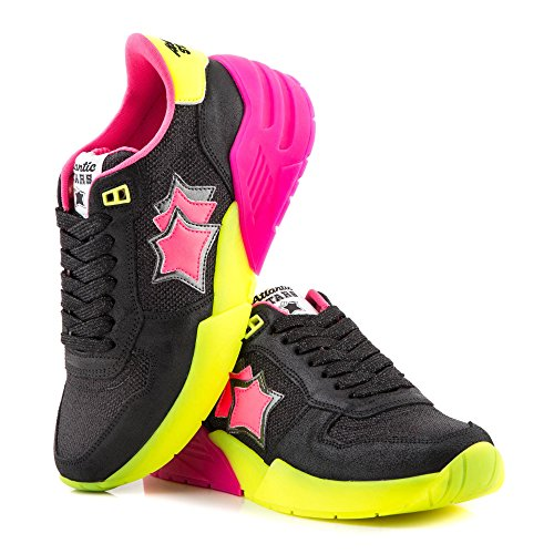 In Camoscio Atlantic Venus Donna Nera Tessuto Mod Stars Sneakers Nb Fluo 37 Sn05 E ZEwSU