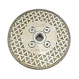 SHDIATOOL 4 Inch Electroplated Diamond Cutting Grinding Disc Fits 5/8-11 Arbor Single Coated Diamond Blade for Granite Marble Diamond Disk Diamond Wheel