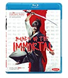 Manji, a highly skilled samurai, becomes cursed with immortality after a legendary battle. Haunted by the brutal murder of his sister, Manji knows that only fighting evil will regain his soul. He promises to protect a young girl named Rin and help he...