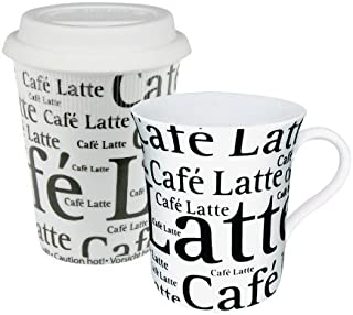 Konitz To Stay/Go Mugs, Cafe Latte White, Set of 2 by Konitz