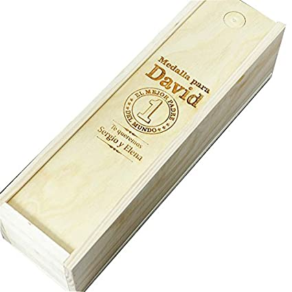 Caja de Madera Personalizada para Vino (Caja Mejor Padre del Mundo)