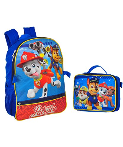 Nickelodeon Boys' Paw Patrol Backpack with Lunch, Blue