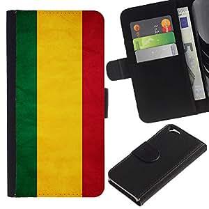EJOY---La carpeta del tirón la caja de cuero de alta calidad de la PU Caso protector / Apple Iphone 6 / --Nacional bandera de la nación País Bolivia