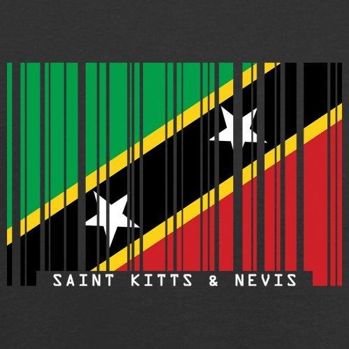 Saint Kitts and Nevis / St. Kitts und Nevis Barcode Flagge - Herren T-Shirt - Schwarz - L