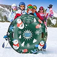 Extra Large 50 Inch Snow Tube with Backrest No More Popped with Thicker K80 Military Grade Material Inflatable