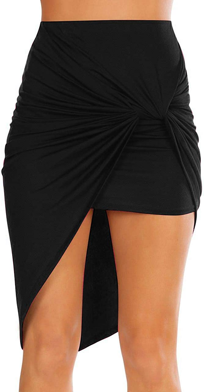 Sexy Mini Skirts for Women Bodycon High Waisted Boho High Low Pencil Summer Skirt. Beach,Office,Clubwear,Date Nightout: Clothing