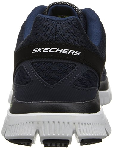 Skechers Flex Advantage Master Plan Herren Sneakers Blau (Nvbk)