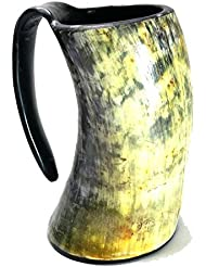 AleHorn 20oz Handcrafted Extra Large Viking Cup Drinking Horn Tankard