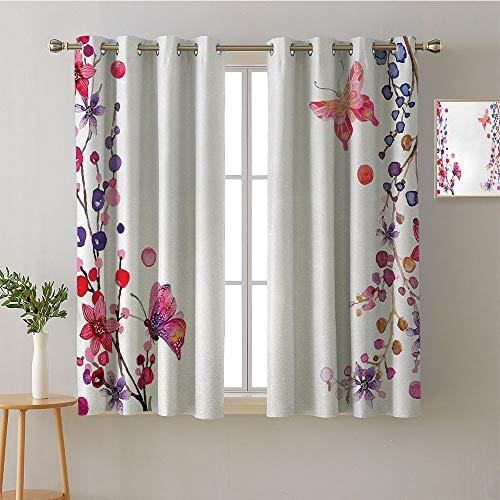Suchashome Curtain Door Panel Grommets Window Darkening Curtains Decorative Darkening Curtains Modes Darkening Curtains Bedroom/Living (2 Pieces, 31.5