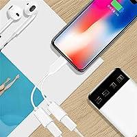 Adaptador de Conector de Auriculares para iPhone 7 Adaptadores de Doble convertidor, Cable de Audio AUX Splitter Conector de Cargador de Auriculares, ...