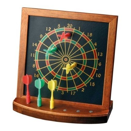 Mini Wooden Desk Table Top Magnetic Darts Game Toy Dartboard U0026 Arrows    Entertaining Game Play
