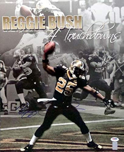 Autographed Reggie Bush Picture - NO 16x20 Collage - PSA/DNA Certified - Autographed NFL Photos