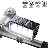VICMAX Led Bicycle Light A8 7200 Lumens 8Pcs x Cree XM-L2 U2, 6x2200mAh Battery(Samsung 18650 Lithium Battery) with Waterproof Box IPX-6 Water proofing By