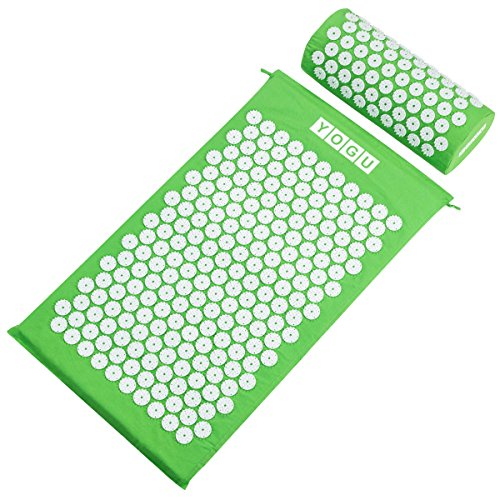 Acupressure Mat and Pillow Set for Back and Neck Pain Relief and Muscle Relaxation Relieves Stress, Back, Neck, and Sciatic Pain