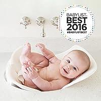 Puj Tub - La bañera suave y plegable para bebés - Recién nacido, bebé, 0-6 meses, bañera para bebés en el fregadero, sin BPA, sin PVC (blanco)