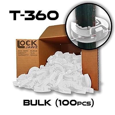 T-360 Electric Fence T-Post Insulator - White (Bulk Qty: 100)