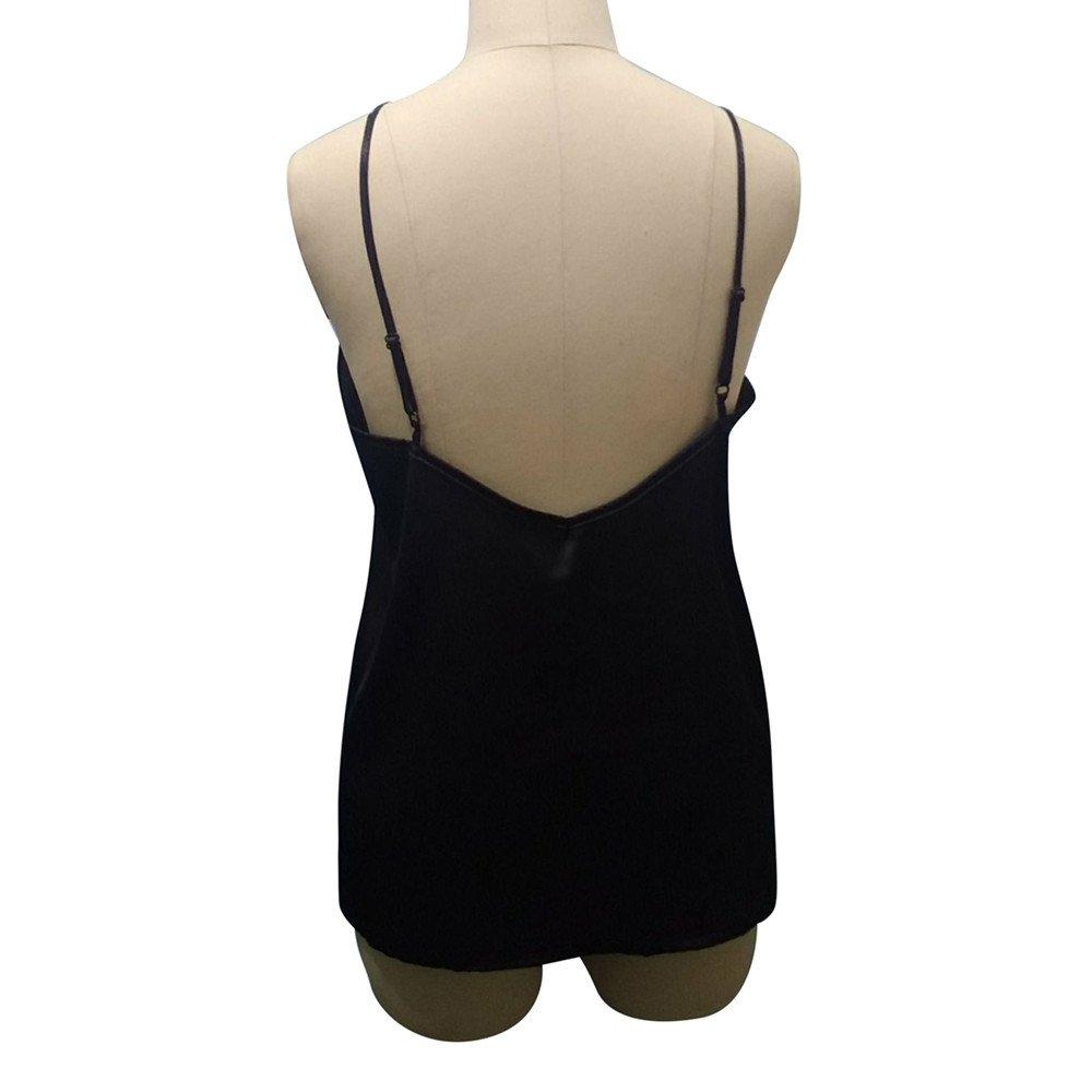2019 Women Tank Blouse T-Shirt,Ladies Lace Vest Sleeveless Loose Crop Tops (M, Black) by Woaills-Dress (Image #8)