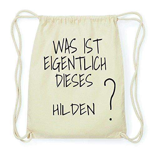 JOllify HILDEN Hipster Turnbeutel Tasche Rucksack aus Baumwolle - Farbe: natur Design: Was ist eigentlich zLtKCEvxO