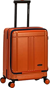 Rockland Tokyo Hardside Laptop Carry-On Spinner Luggage, Orange, 19-Inch