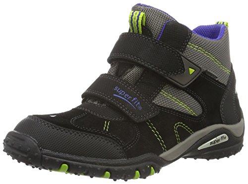 Superfit SPORT4 700364, Jungen Hohe Sneakers, Schwarz (SCHWARZ KOMBI 02), 36 EU