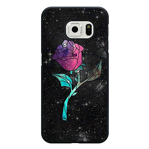 Samsung Galaxy S6 Edge Cover Shell Fashion Black Magic Rose Disney Cartoon Beauty And The Beast Phone Case Cover for Samsung Galaxy S6 Edge Anime Popular