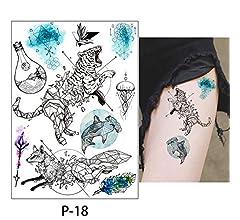 adgkitb 3pcs Cuerpo Tatuaje Flamenco Lindo Gato Arte Tatuaje ...
