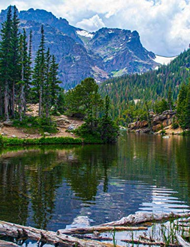 Notebook: Rocky Mountains Canada Canadian lake landscape beautiful by Wild Pages Press