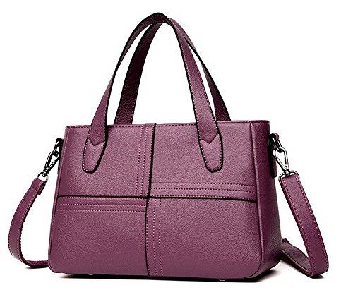 tout Stitching Contrast Violet AllhqFashion Fête Femme bandoulière Sacs FBUFBD181629 Gris à Sacs fourre BHaBnXqw