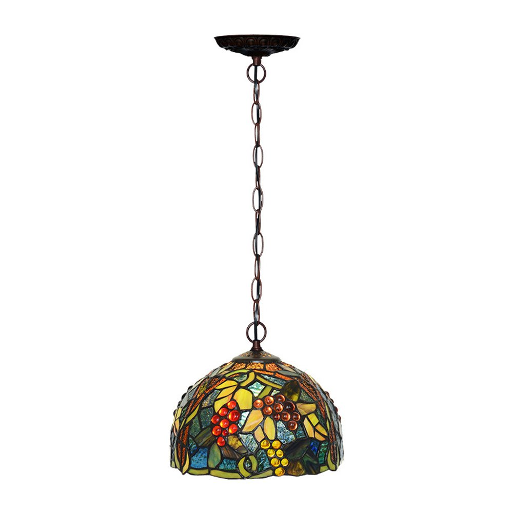 Rainierlight Tiffany Style Ceiling Lamp LED Chandelier 8-Inch for Indoor Art Home Decoration Tiffany Stained Glass Chandelier