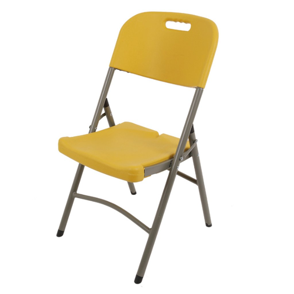 TangMengYun 折りたたみチェアホームダイニングチェアレジャーチェアトレーニングチェア会議用チェアポータブルチェアスツール (Color : Yellow, サイズ : 45 * 43 * 88CM) B07FQG7LHV 45*43*88CM|Yellow Yellow 45*43*88CM