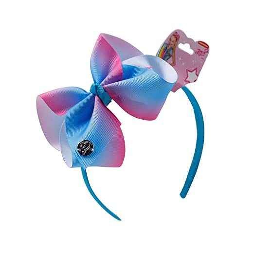 DDazzling Girls Unicorn Hair Bow Headbands Satin Skinny Headband Hair  Accessories (Blue) d42576a6894