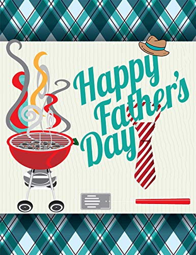 Wamika Happy Father's Day Hat Tie Garden Yard Flag Banner House Home Decor 28 x 40 inch, Beard BBQ Large Decorative Double Sided Welcome Flags for Holiday Wedding Party Outdoor Outside
