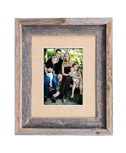 burlap picture frame - 5