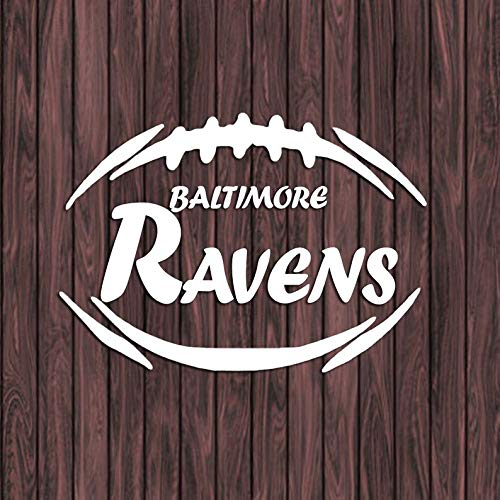 (CELYCASY Baltimore Ravens Decal, Vinyl Decal Sticker, Car Decal, Laptop Decal, Football Decal, Yeti Tumbler Decal, Football Monogram)