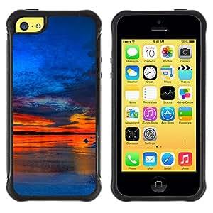 "Hypernova Defender Series TPU protection Cas Case Coque pour Apple iPhone 5C [Sunset Beautiful Nature 37""]"