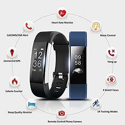 Fitness Tracker Fitness Watch Activity Tracker Activity Watch Smart Wristband Pedometer With Heart Rate Monitor GPS Tracker Waterproof Sleep Monitor Step Counter Calorie Counter Smart Bracelet