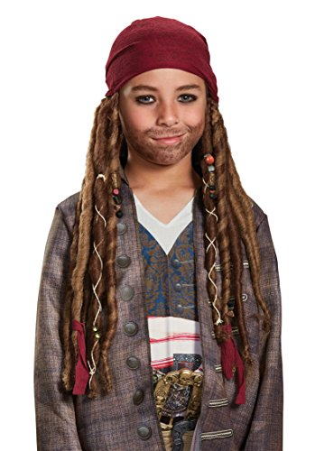 Disney POTC5 Jack Sparrow Bandana W/Dreads - Child,  Multicolor,  One Size -