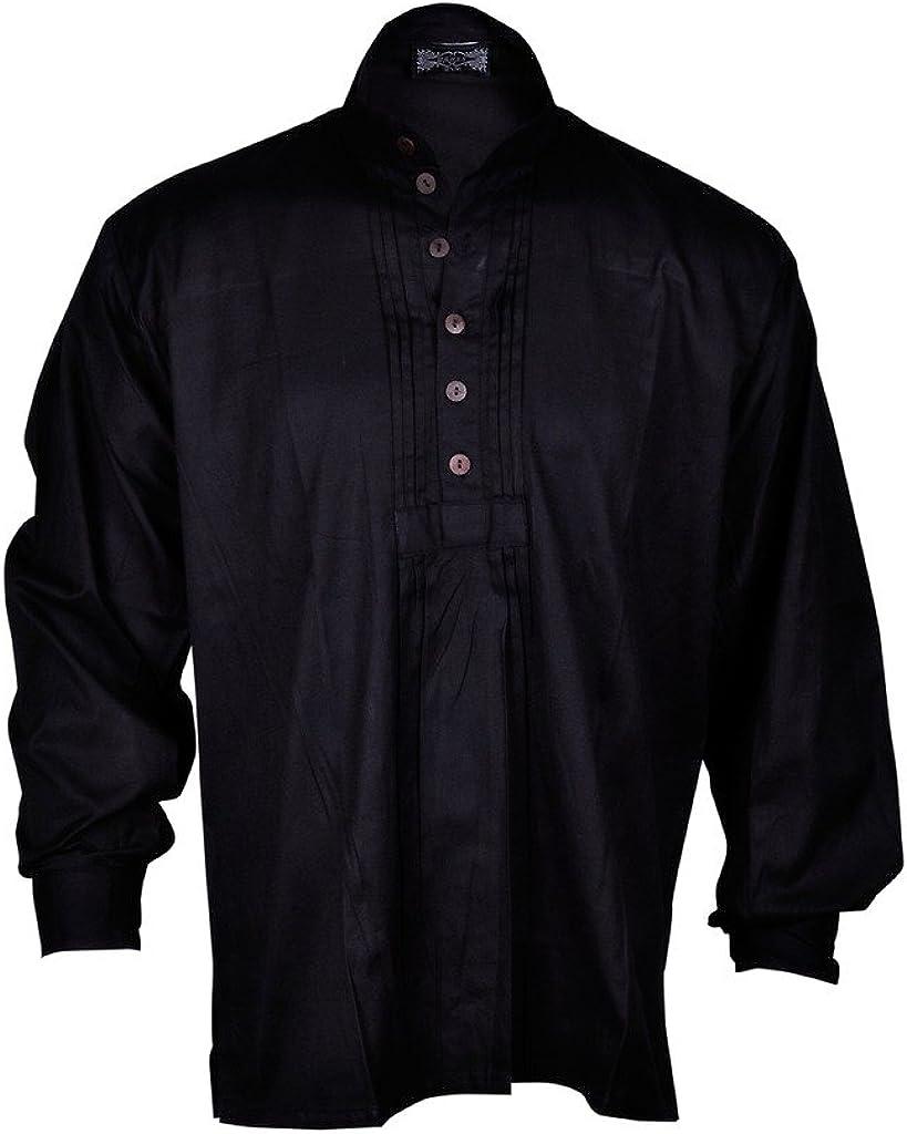Bares - Camisa de disfraz de pirata para hombre, talla L, color negro: Amazon.es: Ropa y accesorios