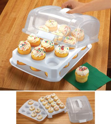 Amazon Com Nicole S Kitchen Cupcake Holder With Carrying