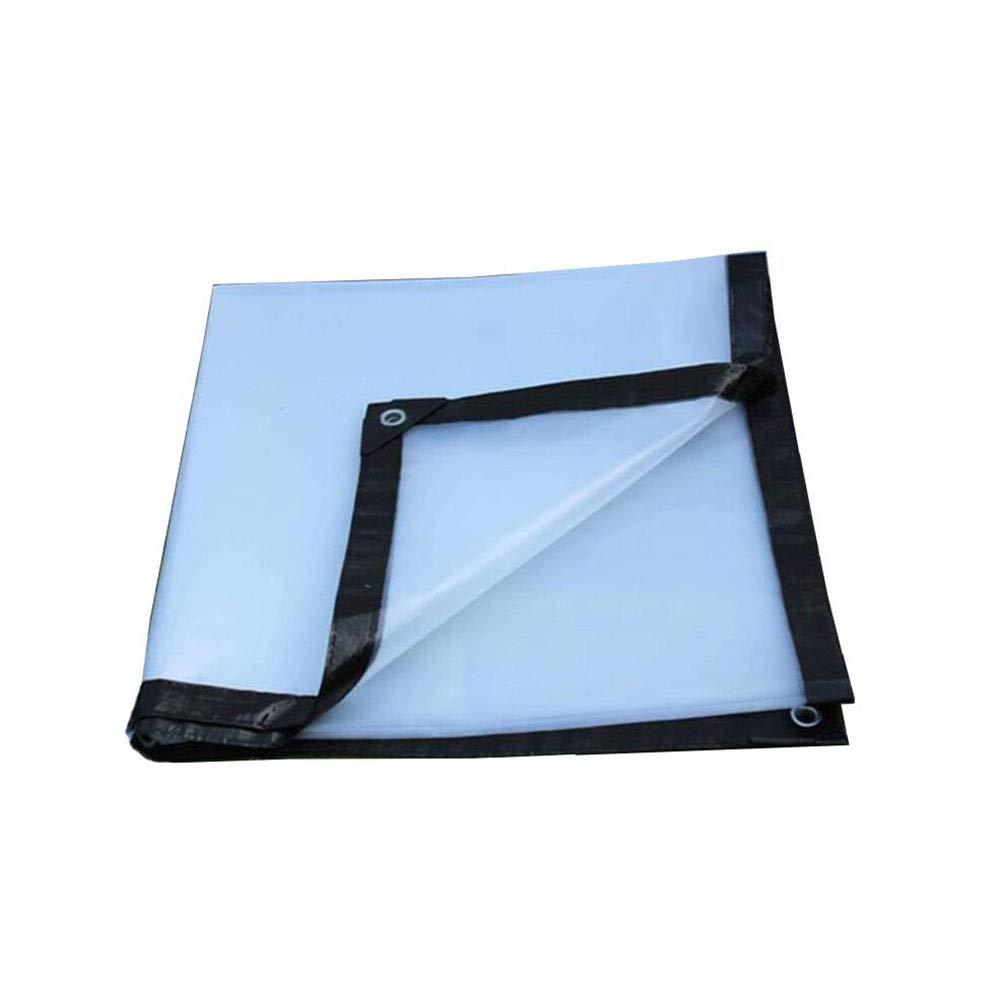 3X8m HRFHLHY BÂche Imperméable en Plastique Transparente épaisse De BÂche, Boutonnière Facile à Plier Le Tissu De Film D'isolation De BÂche De Polyéthylène PE,3X10m