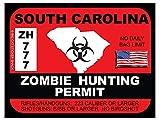 South Carolina Zombie Hunting Permit(Bumper Sticker)